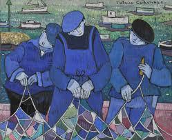PDT-2018-Patrice Cudennec-Artiste breton-3 marins poètes-Les Papotis de Thalie